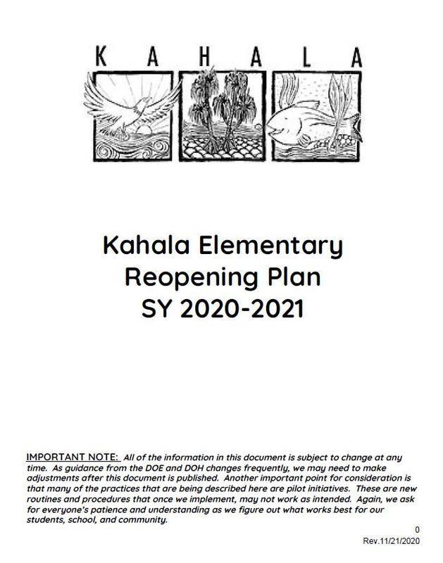 Reopening Plan 11/21/20