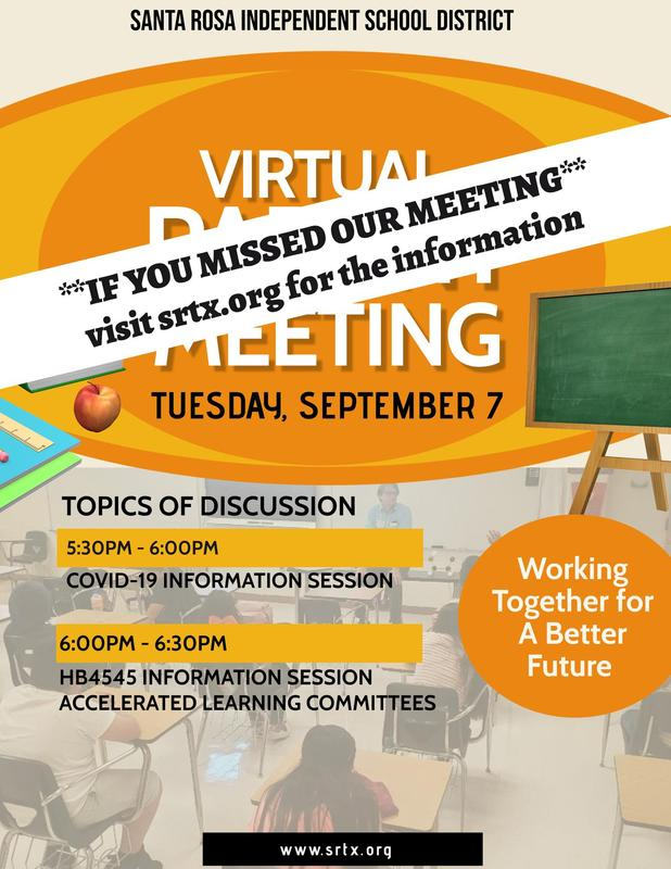 Virtual Parent Meeting Information Featured Photo