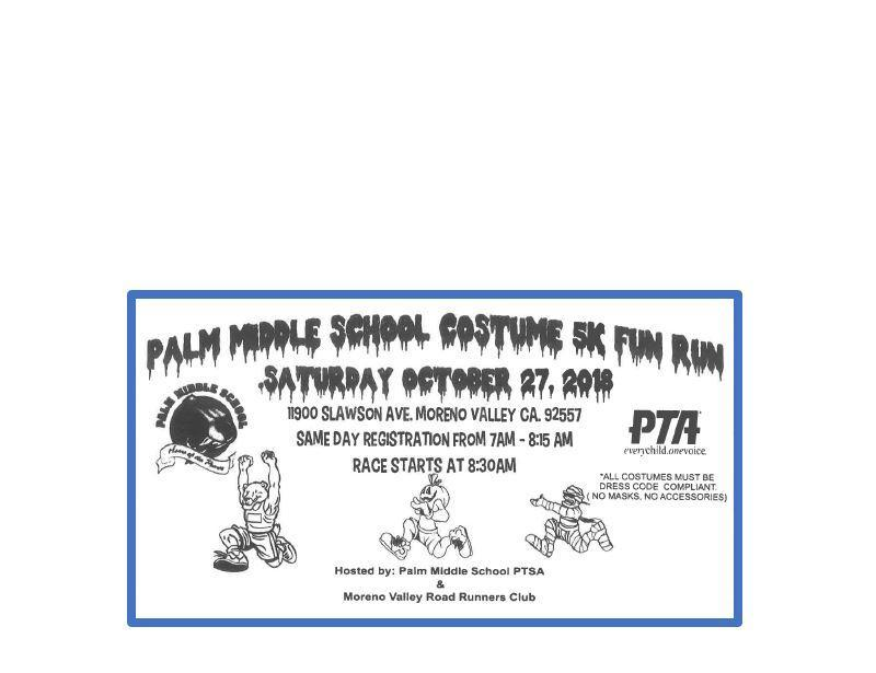 Palm Puma Fun Run Flyer