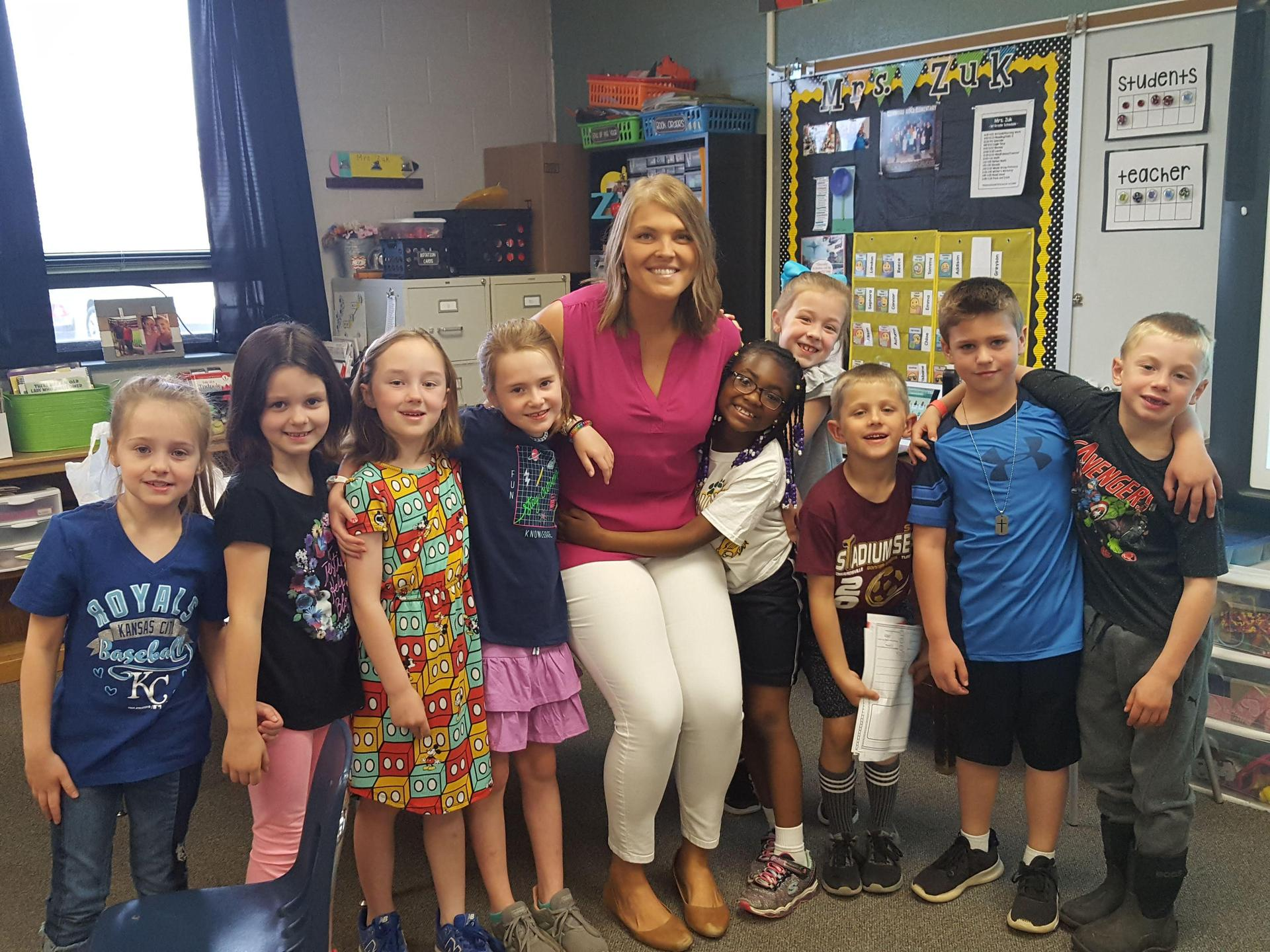 1st grade and Mrs. Zuk