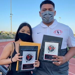 Sierra Vista High School graduates Kimberly Lozano and Anthony Rosas were named 2020-21 Outstanding Athletes of the Year during the school's Senior Awards Night on May 27.