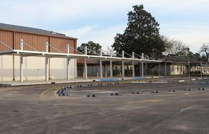 LJH covered Student Drop-Off Area, front view