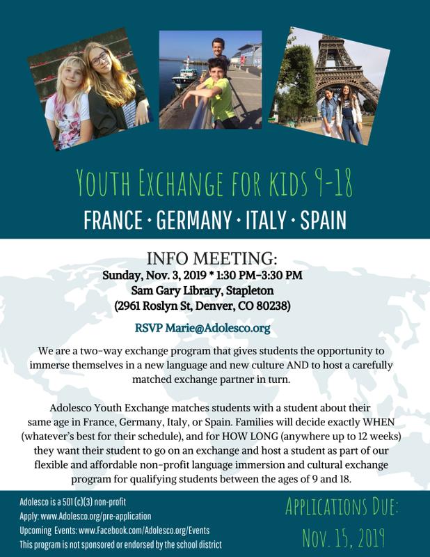 youth exchange flyer