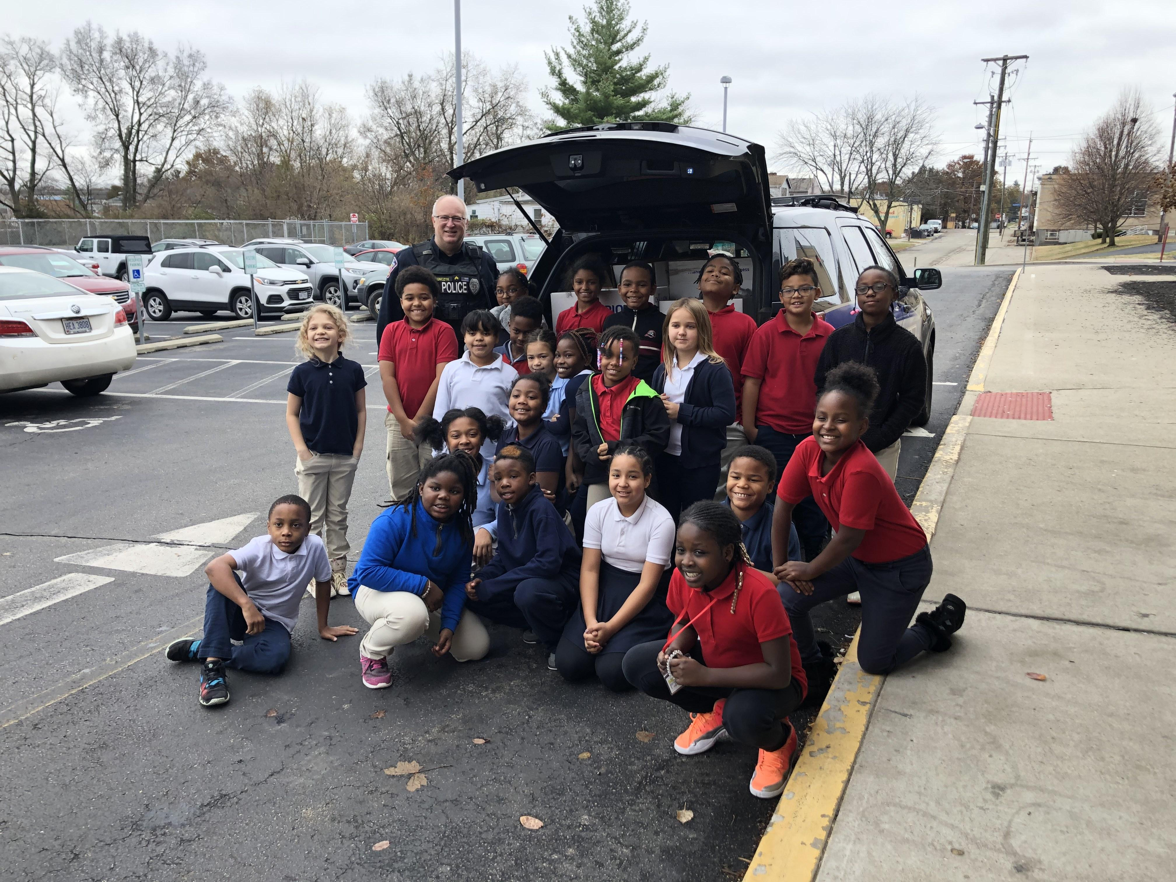 "Student Council Canned Food Drive with NCH PD ""Cram the Cruiser"""