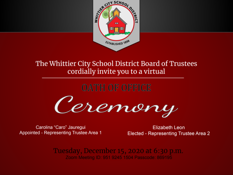 WCSD Oath of Office Ceremony