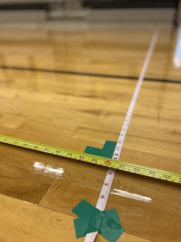 Tape on gym floor
