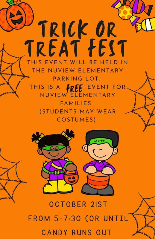 Flyer for Trick or Treat Fest