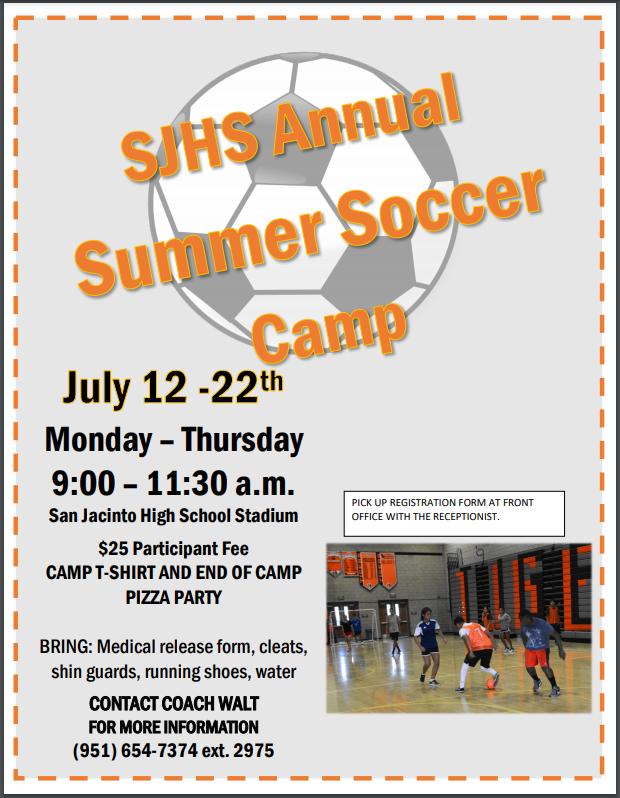 SJHS Summer Soccer Camp