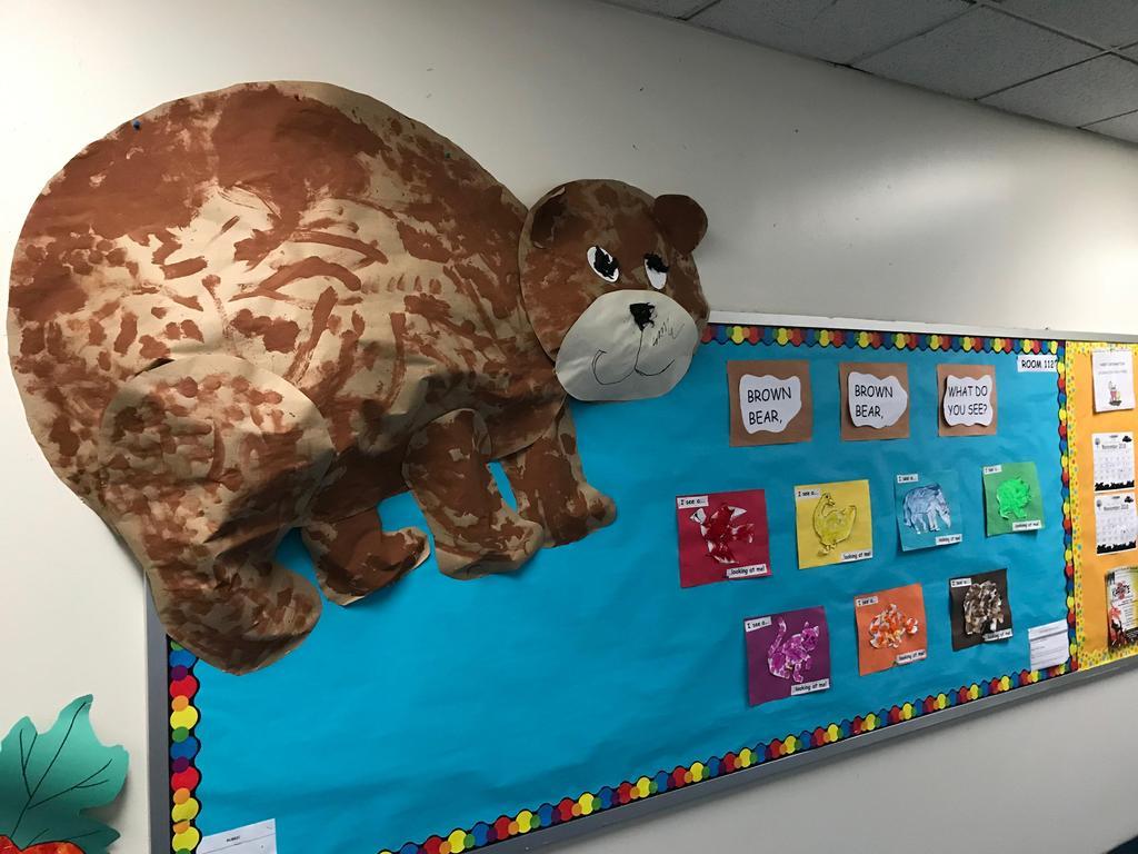 Bear Bulletin board display