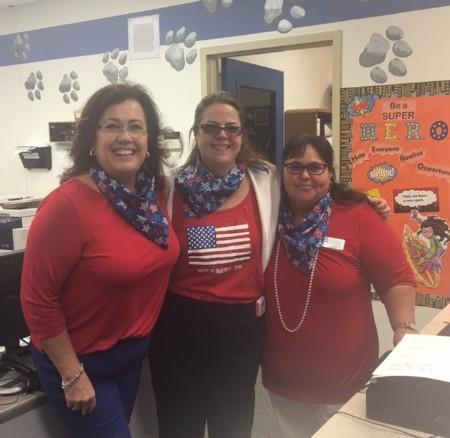 Mrs. Robilotta, Mrs. Lovato, and Mrs. Perez