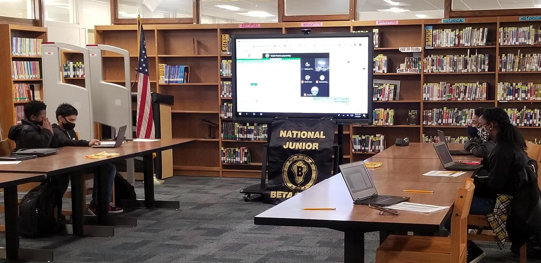 Jr. Beta Club Students in virtual competition