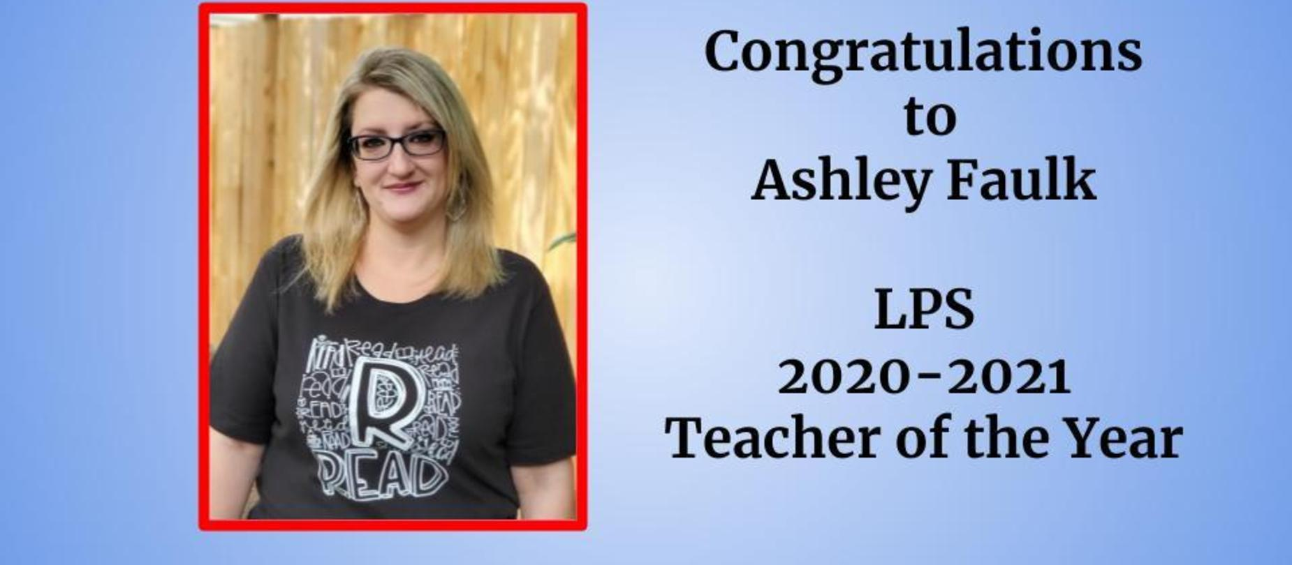 Teacher of the Year Ashley Faulk