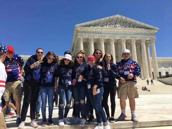 photo of students in DC