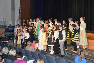 Strayer Players Music Theater Academy from the Quakertown School District perform selections from Mary Poppins