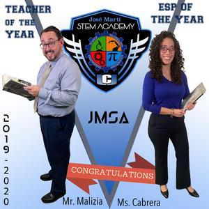 Mr. Malitzia and Ms. Cabrera Teacher of the Year