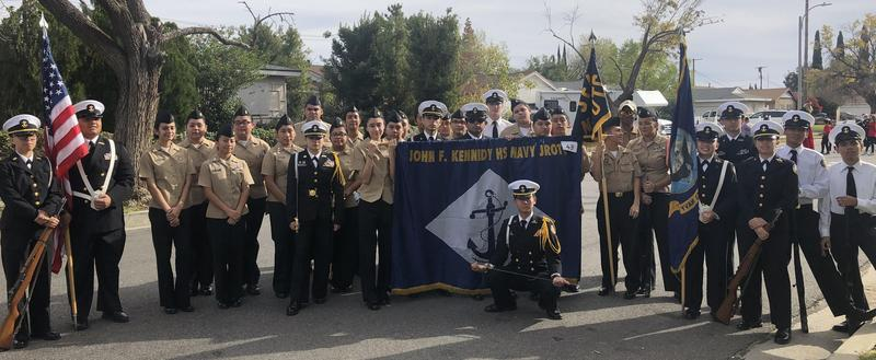 Kennedy JROTC Marches in Chatsworth Holiday Parade Featured Photo