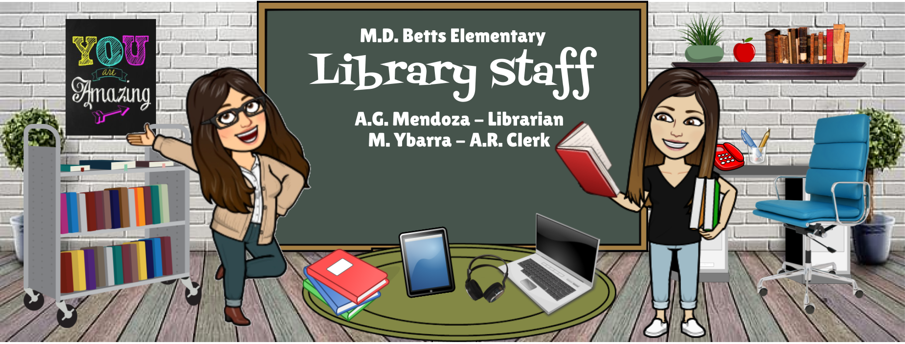 Image of Bitmoji Staff - Library Staff