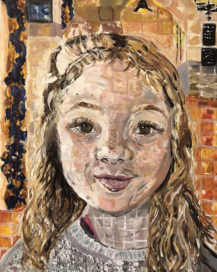 painting of child