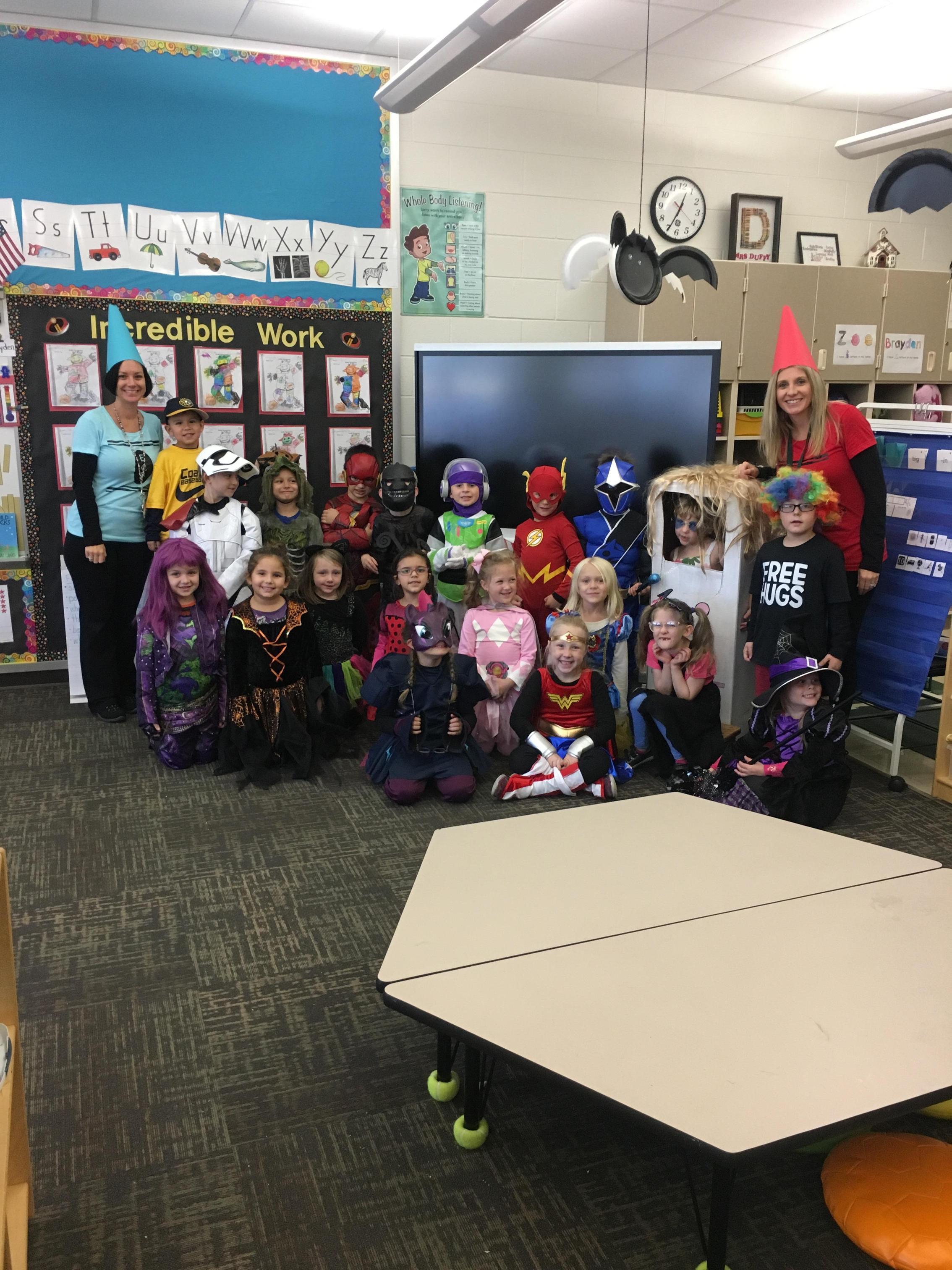 Classroom Halloween picture