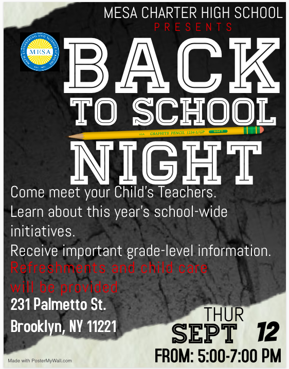 Back to School Night Flyer - English