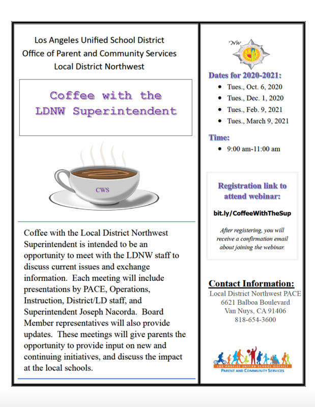 Coffee with the Local District Northwest Superintendent Featured Photo