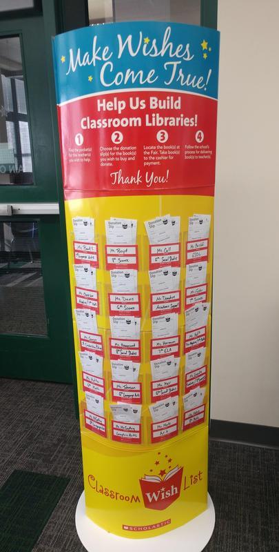 Teacher classroom library donations