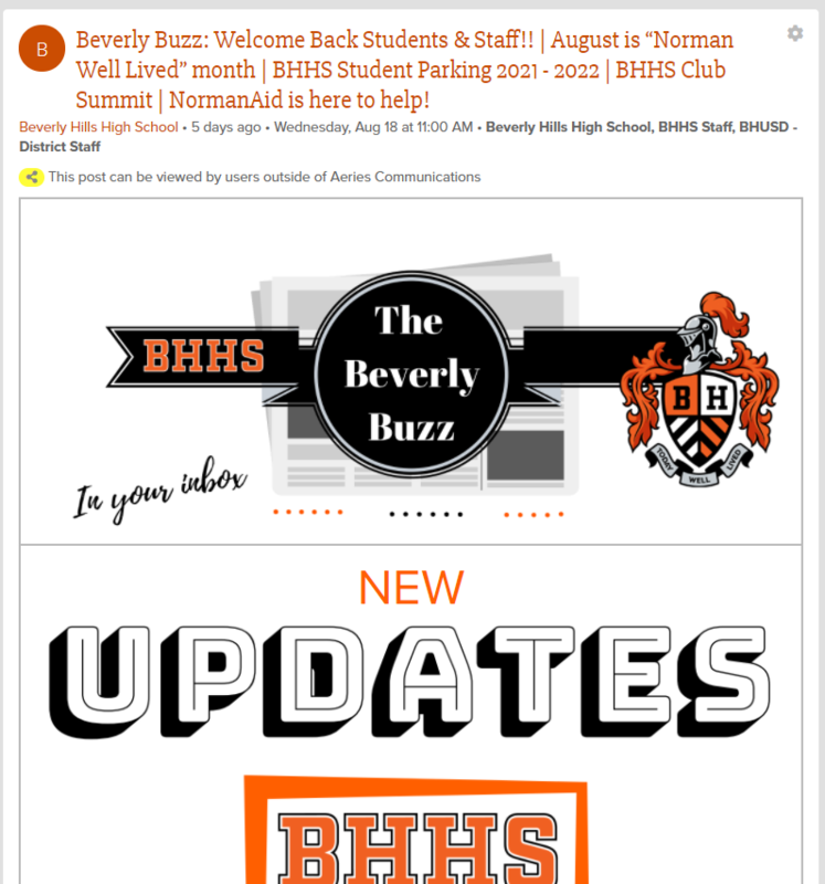 BHHS Newsletter - The Beverly Buzz - August 18, 2021