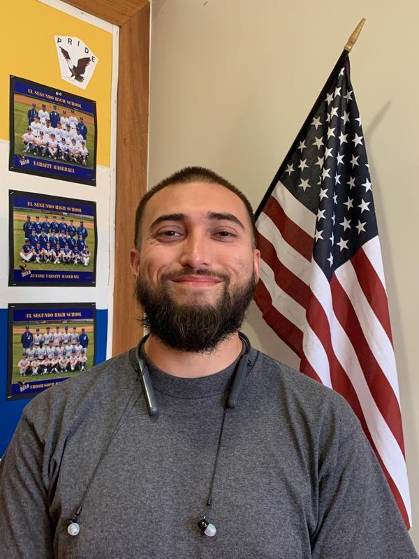 Aaron Romero, ESHS custodian