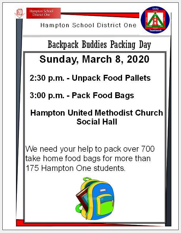 Backpack Buddies Packing