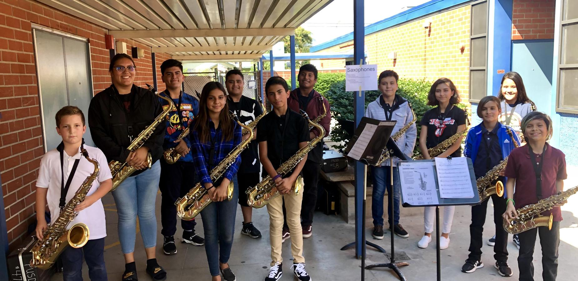 Garey High School Music Students tutored 130 of Simons aspiring musicians! We have invited them to come again on October 30th. #Proud2bepusd http://edl.io/n1108973