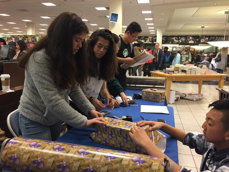 8th Graders wrap gifts at Barnes & Noble Thumbnail Image