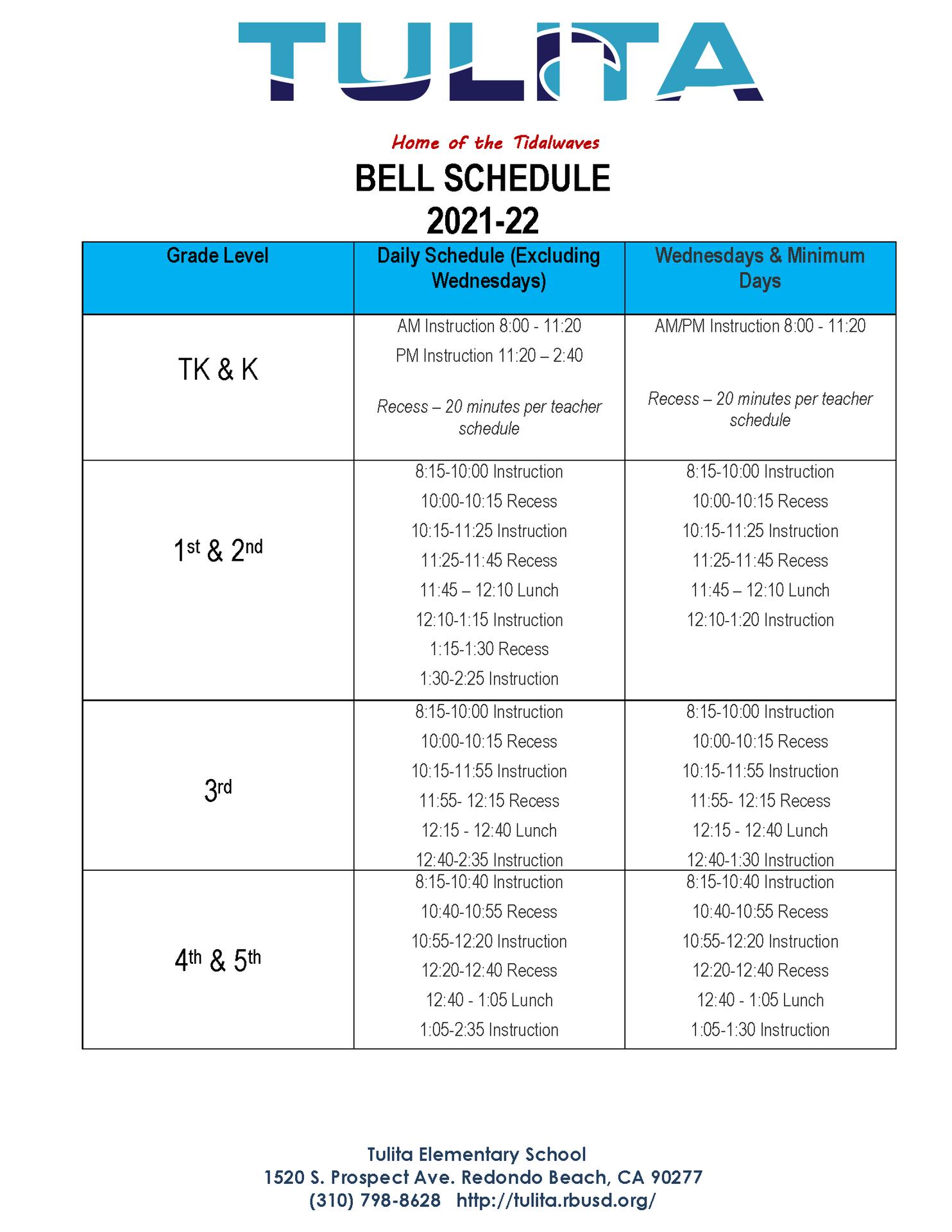 21-22 schedule