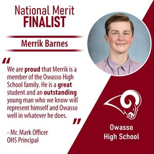 National Merit Finalist Merrik Barnes