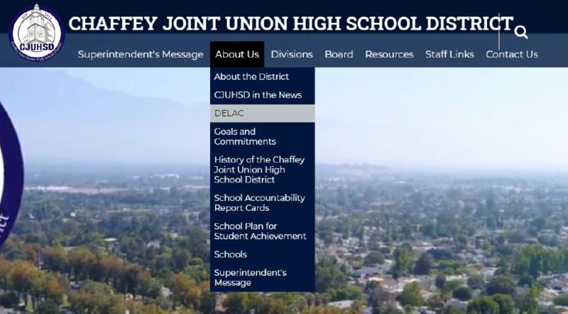 CJUHSD Website Homepage