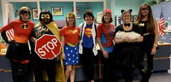 Staff dressed up for book character parade