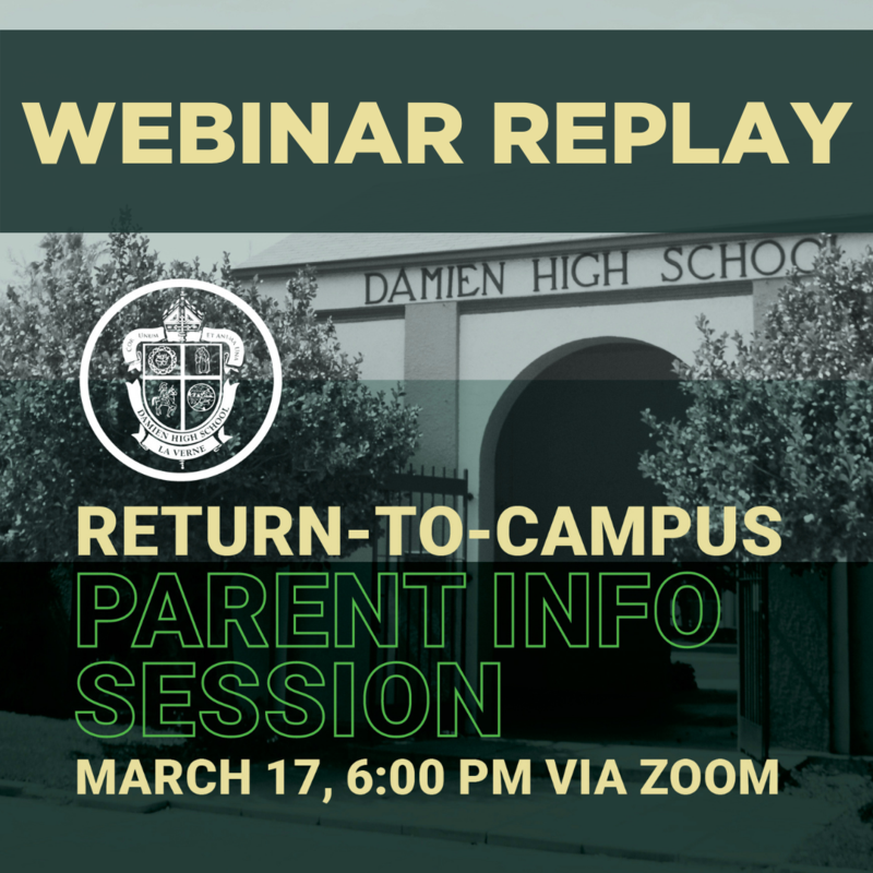 Return to Campus Parent Information Webinar Replay Featured Photo