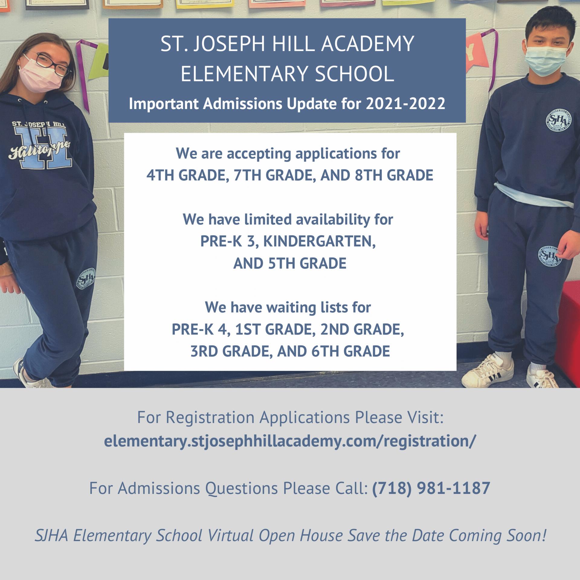 Admissions Updates