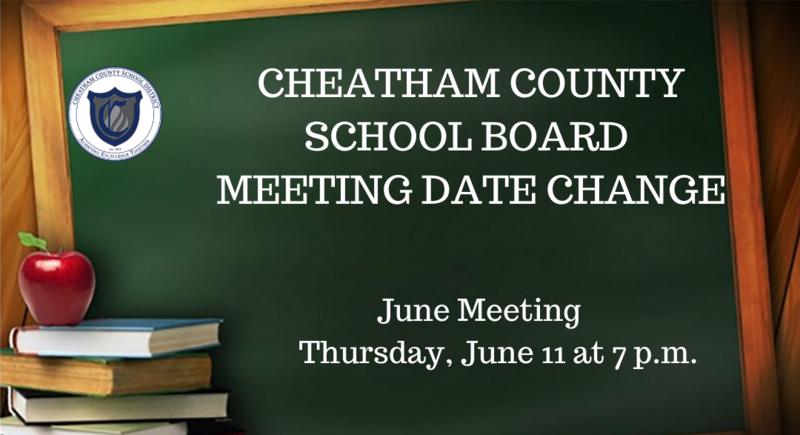 The June School Board meeting has been rescheduled to June 11.