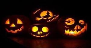 Four jack-o-lanterns