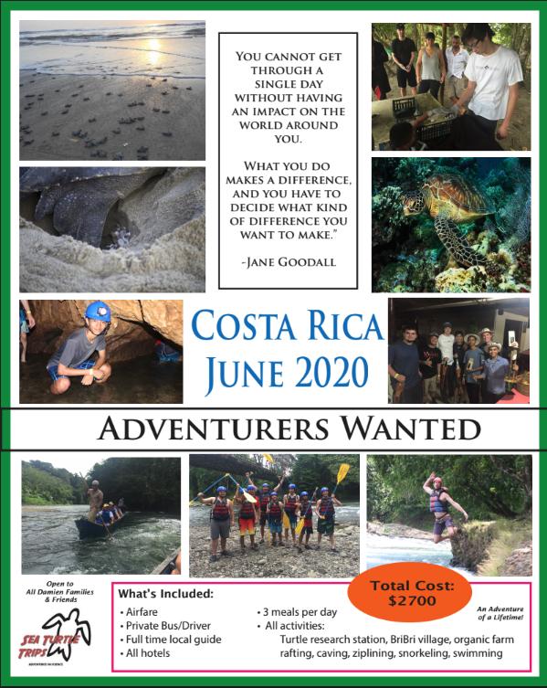 Costa Rica Field Study Trip Spring 2019