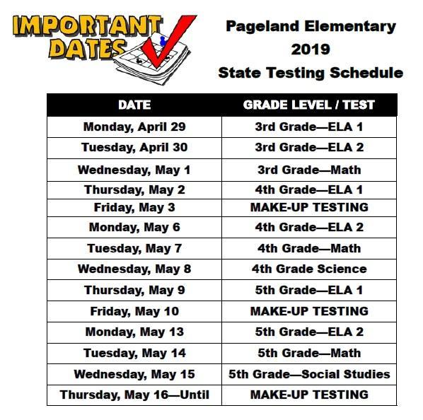 PES Announces State Testing Schedule Featured Photo