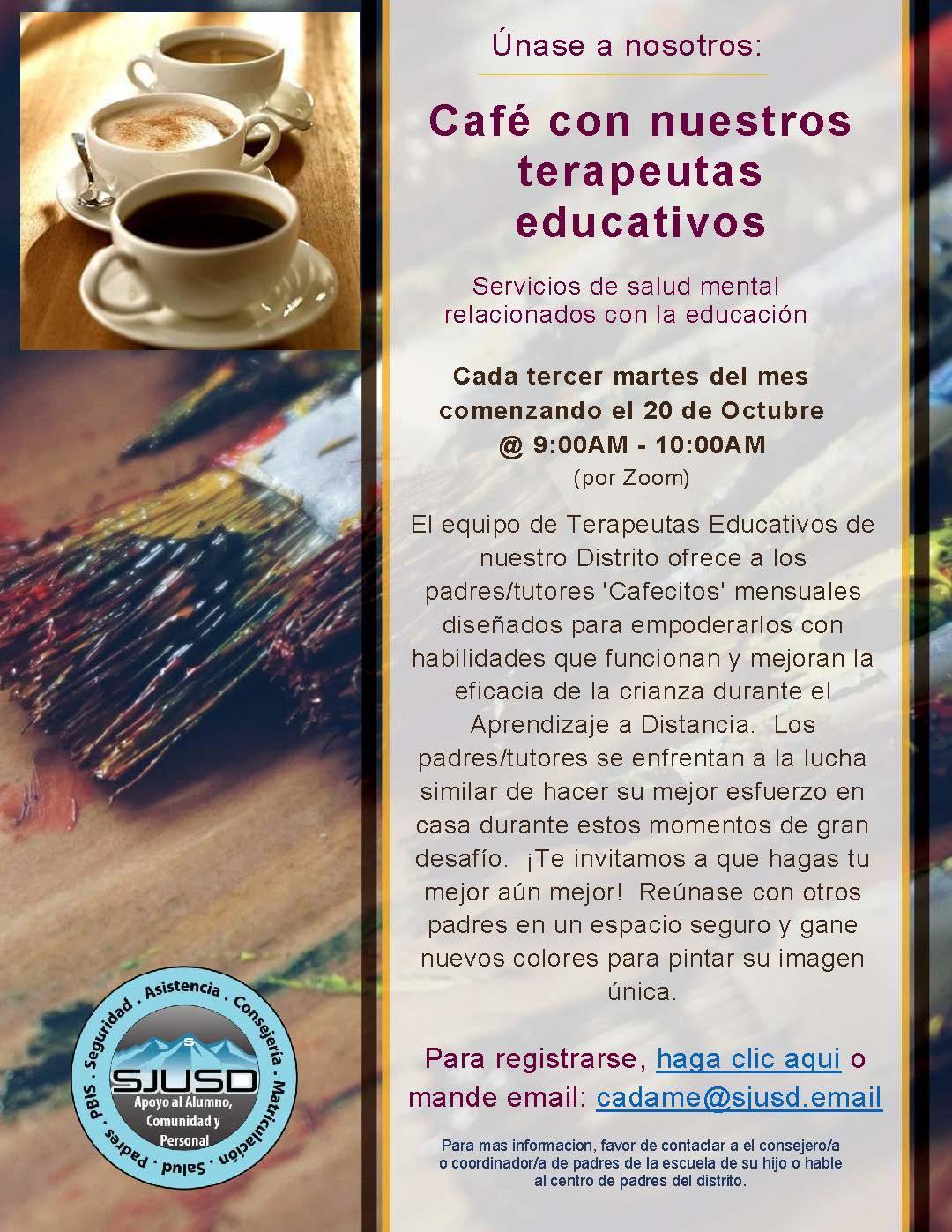 Café con nuestros terapeutas educativos