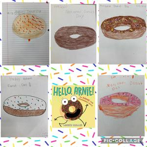Doughnut drawings collage