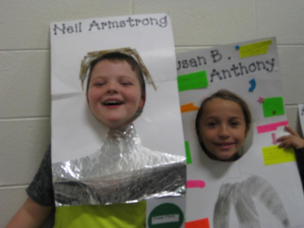 Wax Museum-Neil Armstrong and Susan B. Anthony