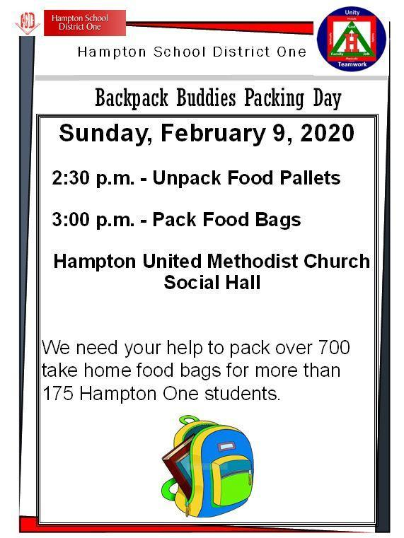Backpack Buddies - February 9, 2020