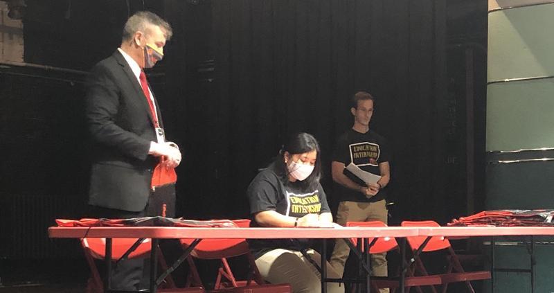 Education Internship Signing Day