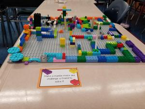Lego Marble Maze structure