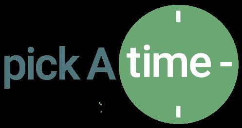 Pick-a-time logo
