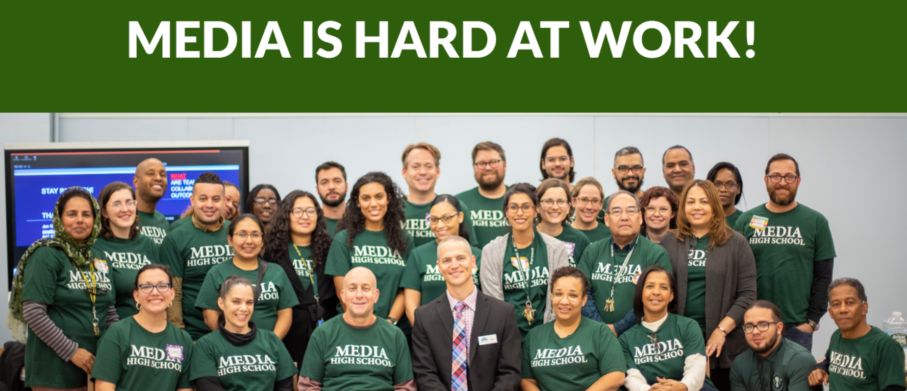 Media High School is a Professional Learning Community!