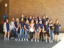 Middle School Blueberry Ambassadors. Students are from 6th, 7th and 8th Grades.